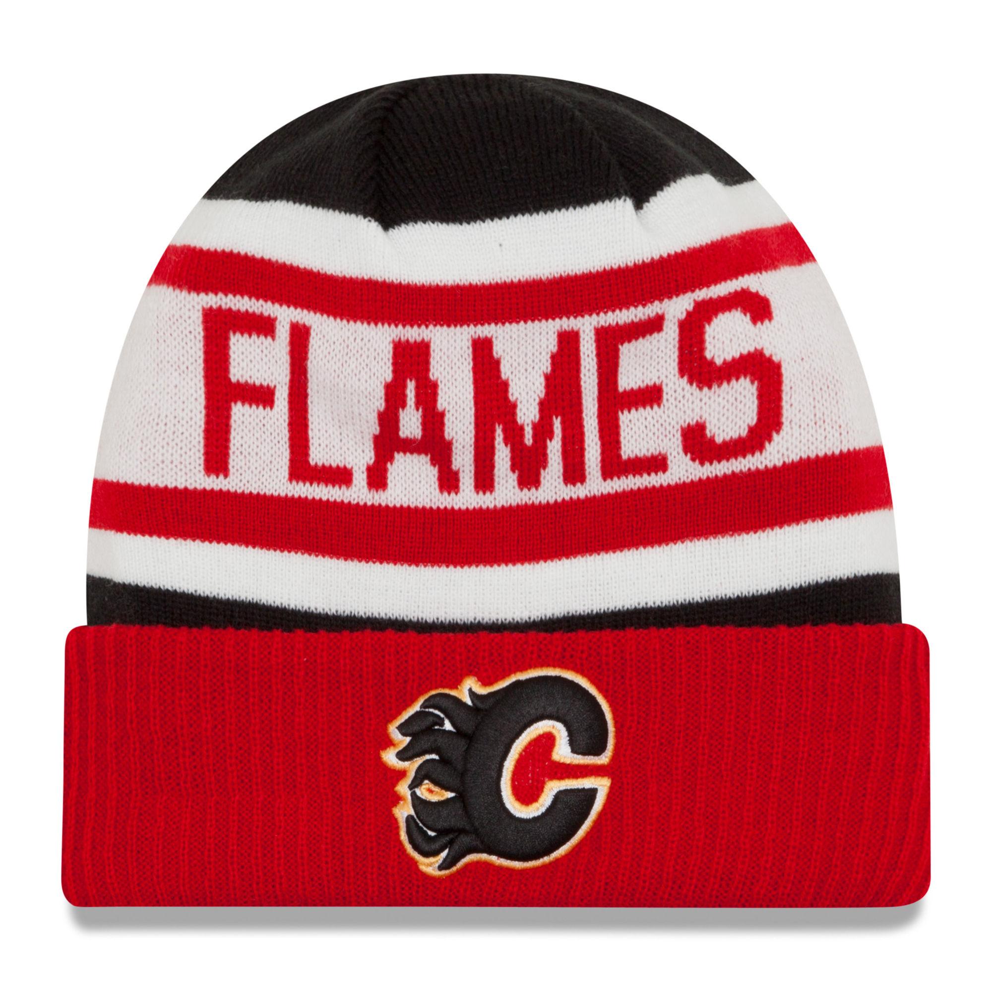 New Era Dětská zimní čepice Calgary Flames NHL Biggest Fan 2.0