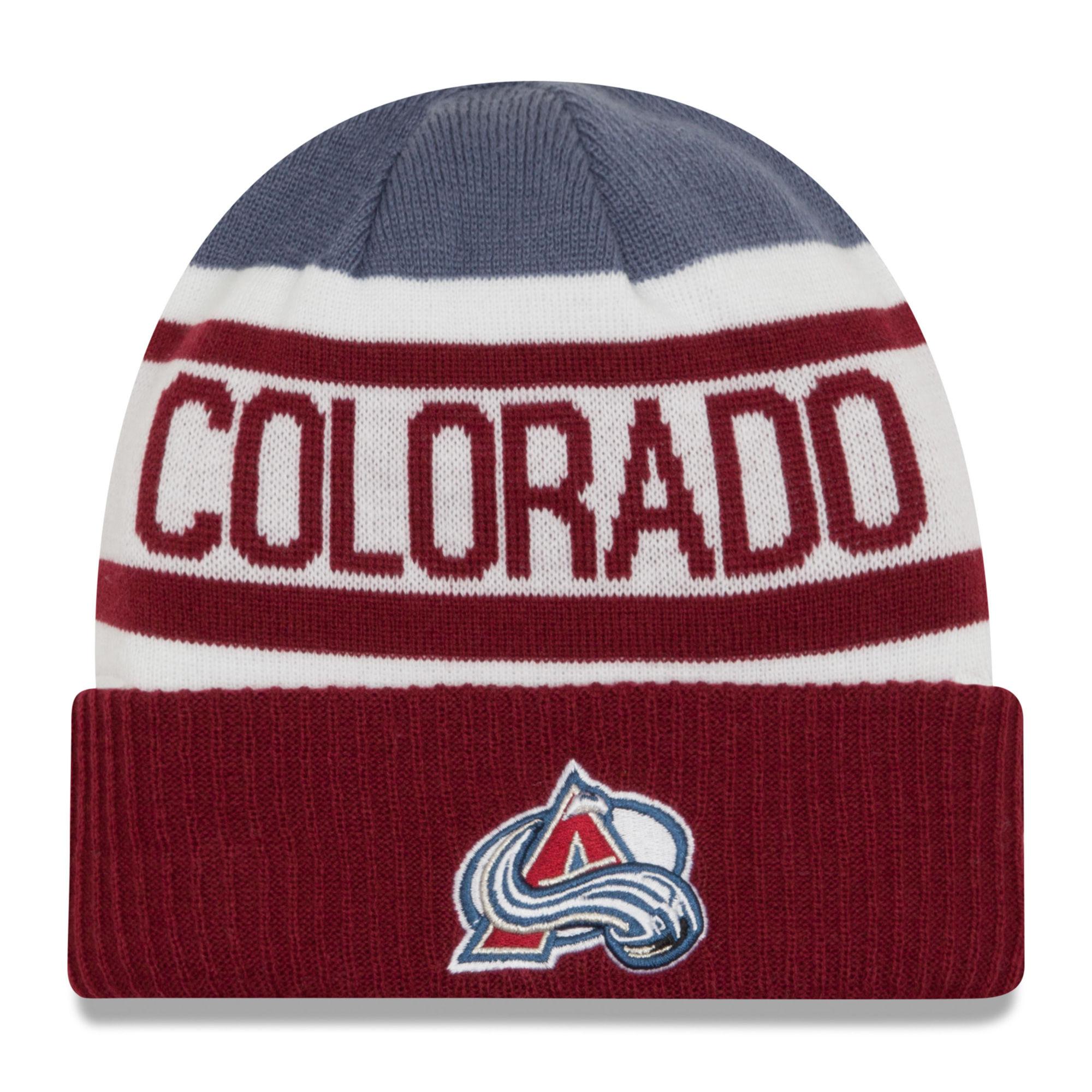 New Era Dětská zimní čepice Colorado Avalanche NHL Biggest Fan 2.0