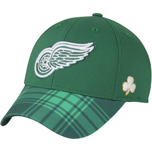 Reebok Kšiltovka Detroit Red Wings St. Patrick's Day Flex Velikost: S/M