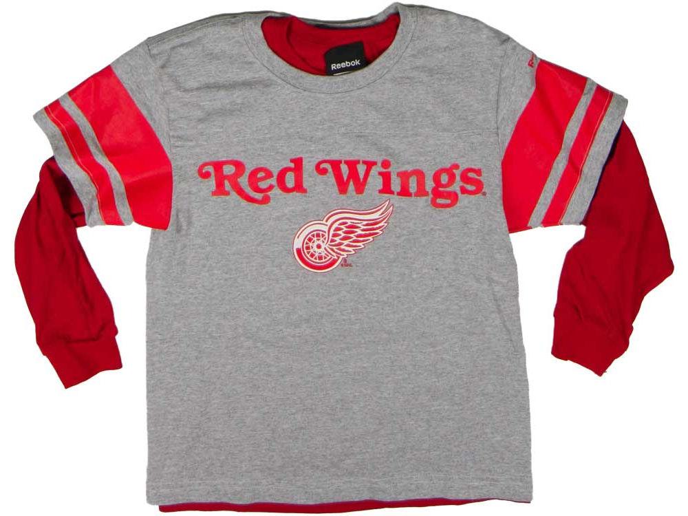 Reebok Dětské tričko Detroit Red Wings Set 3 v 1 Velikost: Dětské M (9 - 11 let)