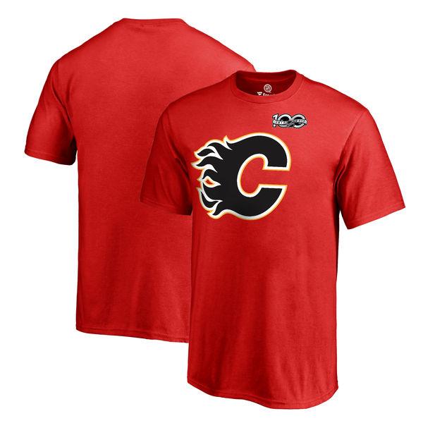 Fanatics Apparel Dětské tričko Calgary Flames 2017 NHL Centennial Season Velikost: Dětské S (6 - 8 let)