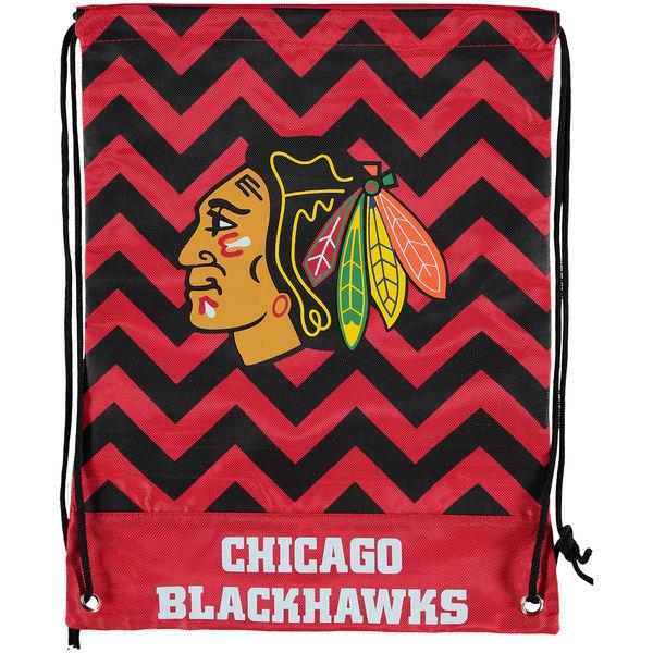 Vak Chicago Blackhawks Chevron Drawstring Backpack