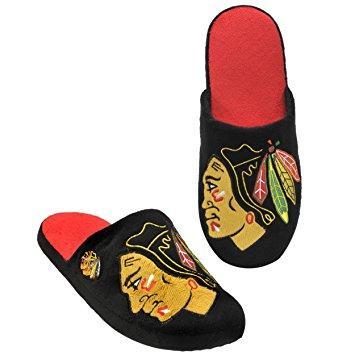 Forever Collectibles Pantofle Chicago Blackhawks Big Logo Velikost: L
