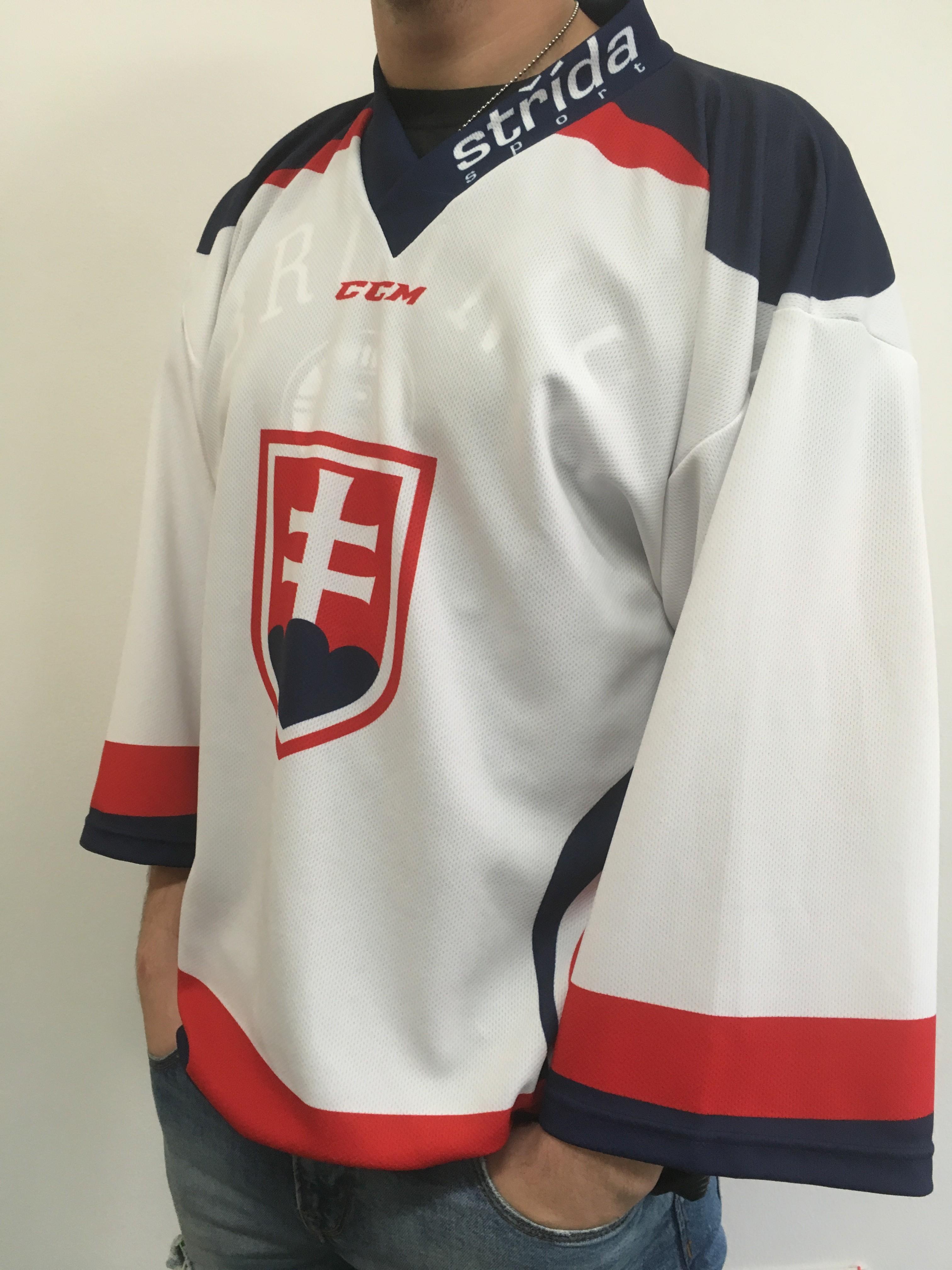 Hokejový dres Slovakia Ice Hockey Team WHITE Velikost: L