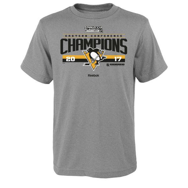 Reebok Dětské tričko Pittsburgh Penguins 2017 Eastern Conference Champions Locker Room Velikost: Dětské S (6 - 8 let)