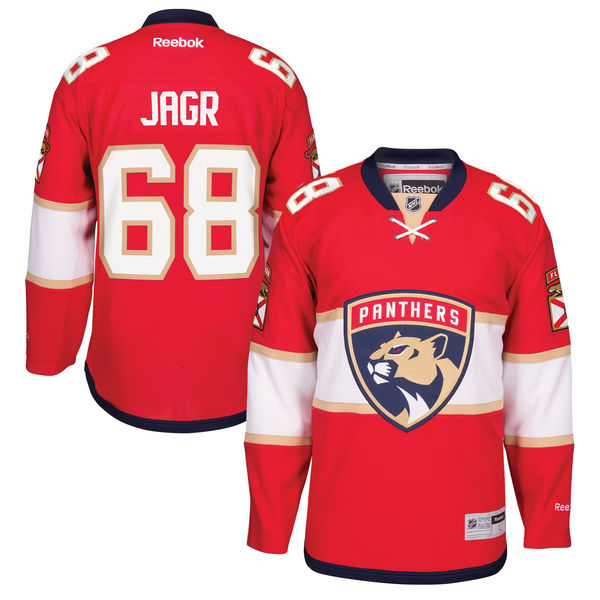 Reebok Dres #68 Jaromír Jágr Florida Panthers Premier Jersey Home Velikost: S