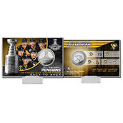 Pamětní mince Pittsburgh Penguins Highland Mint 2017 Stanley Cup Champions Silver Coin Card