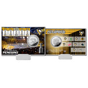 Pamětní mince Pittsburgh Penguins Highland Mint 2017 Stanley Cup Champions 5-Time Multi-Champs Silver Coin Card