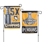 Vlajka Pittsburgh Penguins WinCraft 2017 Stanley Cup Champions Two-Sided 12'' x 18'' Garden Flag