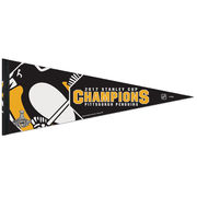 "Vlajka Pittsburgh Penguins WinCraft 2017 Stanley Cup Champions 12"" x 30"" Official On Ice Locker Room Celebration Pennant"