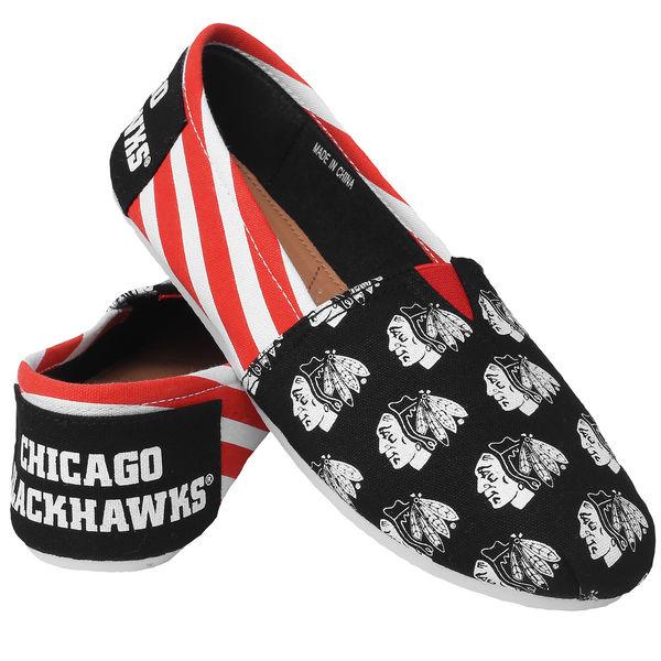 Forever Collectibles Dámské plátěné boty Chicago Blackhawks Velikost: dámské S