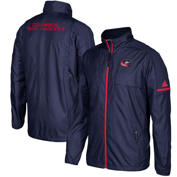 Adidas Bunda Columbus Blue Jackets Authentic Rink Full-Zip Jacket Velikost: S