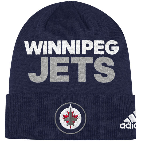 Adidas Zimní Čepice Winnipeg Jets Locker Room 2017