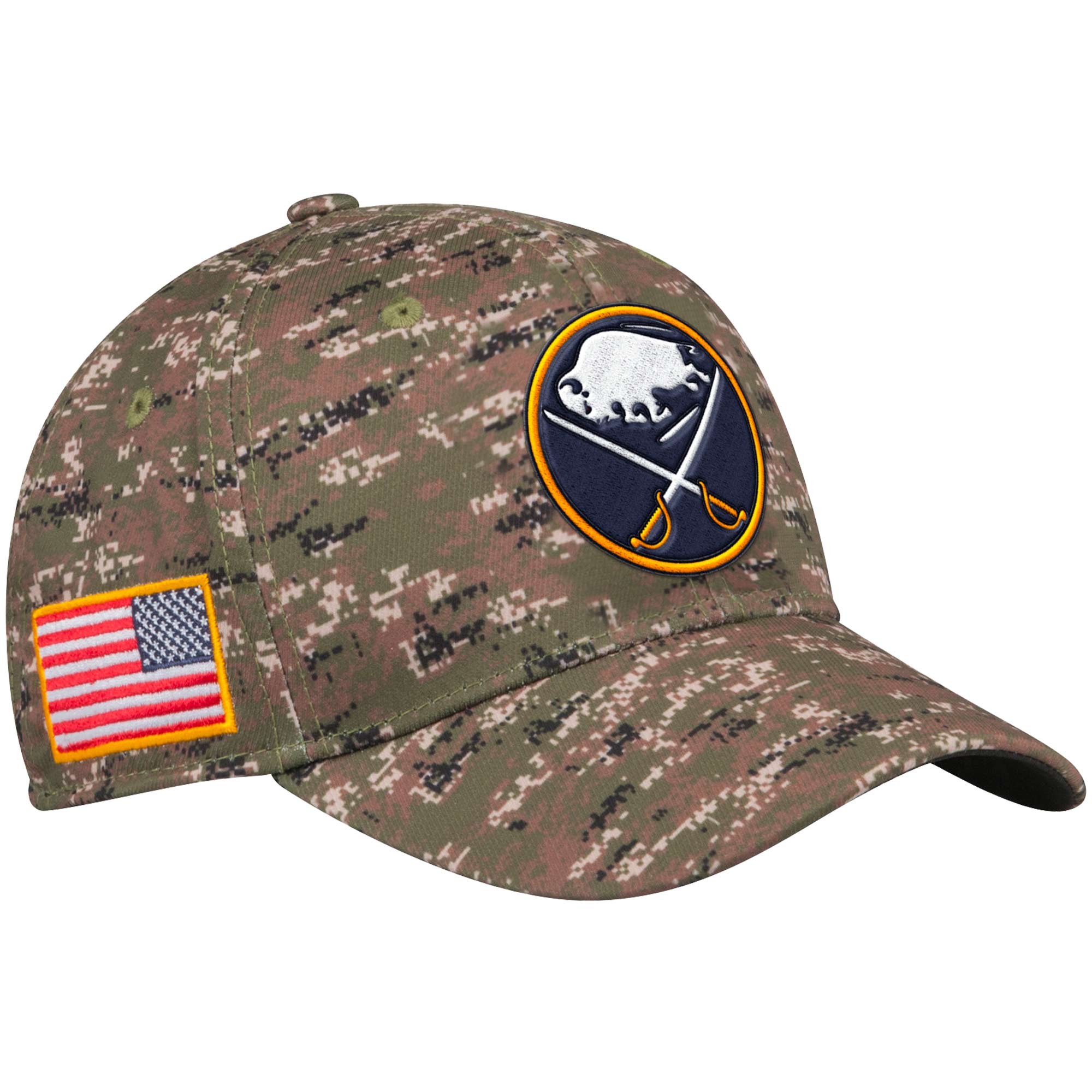 Adidas Kšiltovka Buffalo Sabres NHL Team Flex Camo Velikost: S/M, Distribuce: USA