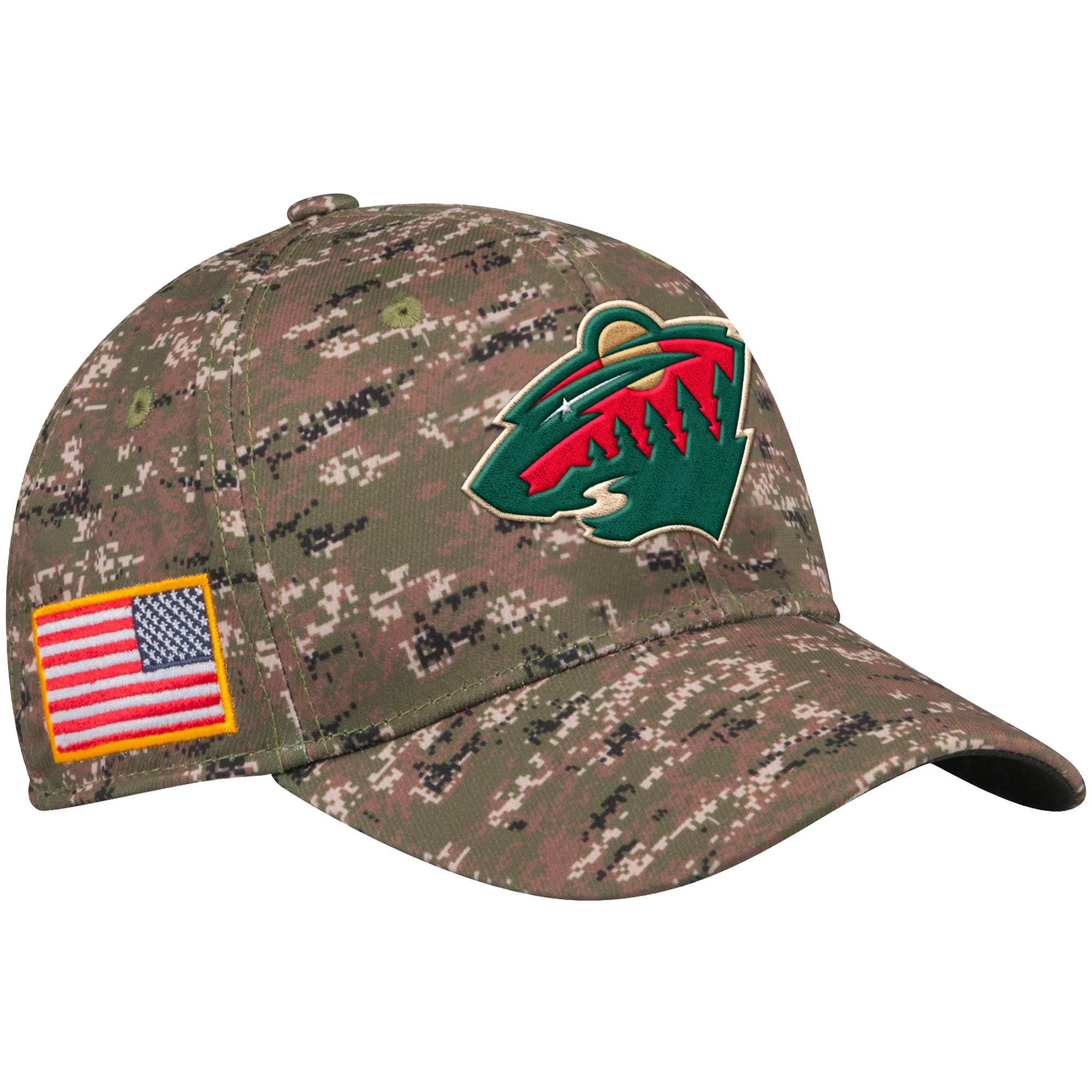 Adidas Kšiltovka Minnesota Wild NHL Team Flex Camo Velikost: S/M, Distribuce: USA