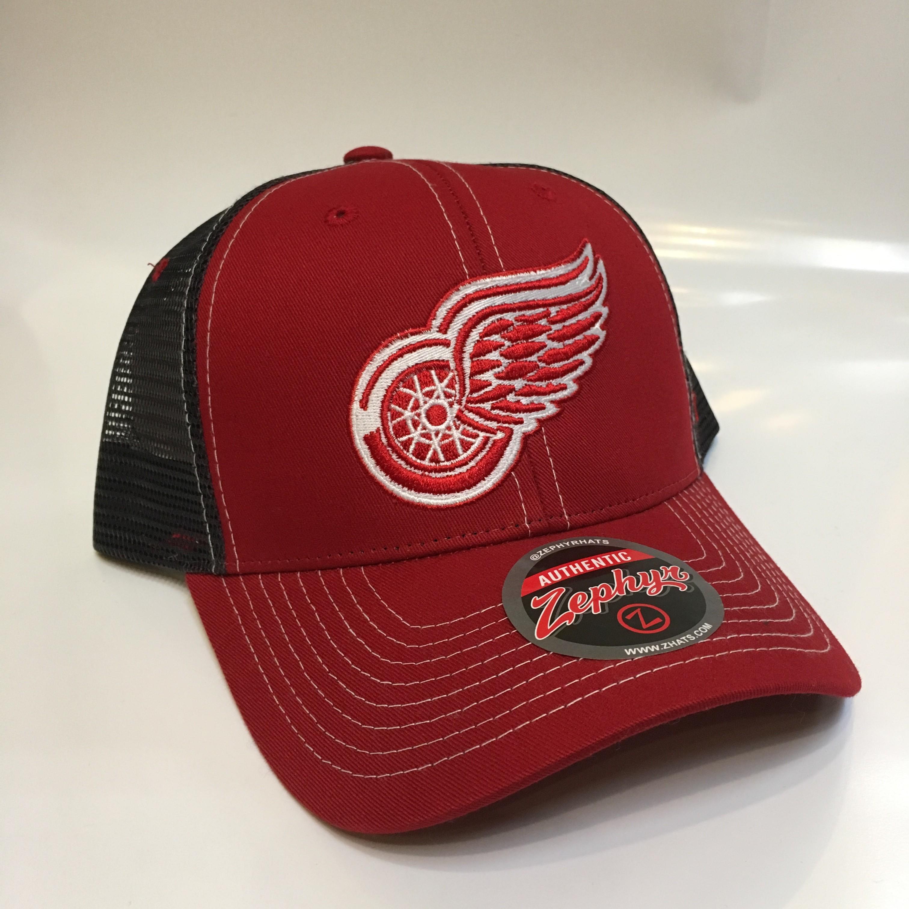 Zephyr Kšiltovka Detroit Red Wings NHL Staple Trucker