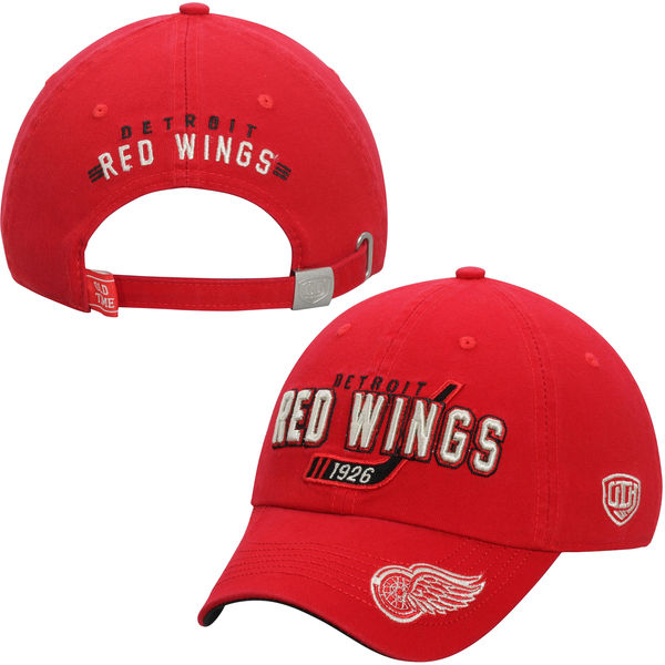Kšiltovka Detroit Red Wings Old Time Hockey Knox Adjustable Hat - Red
